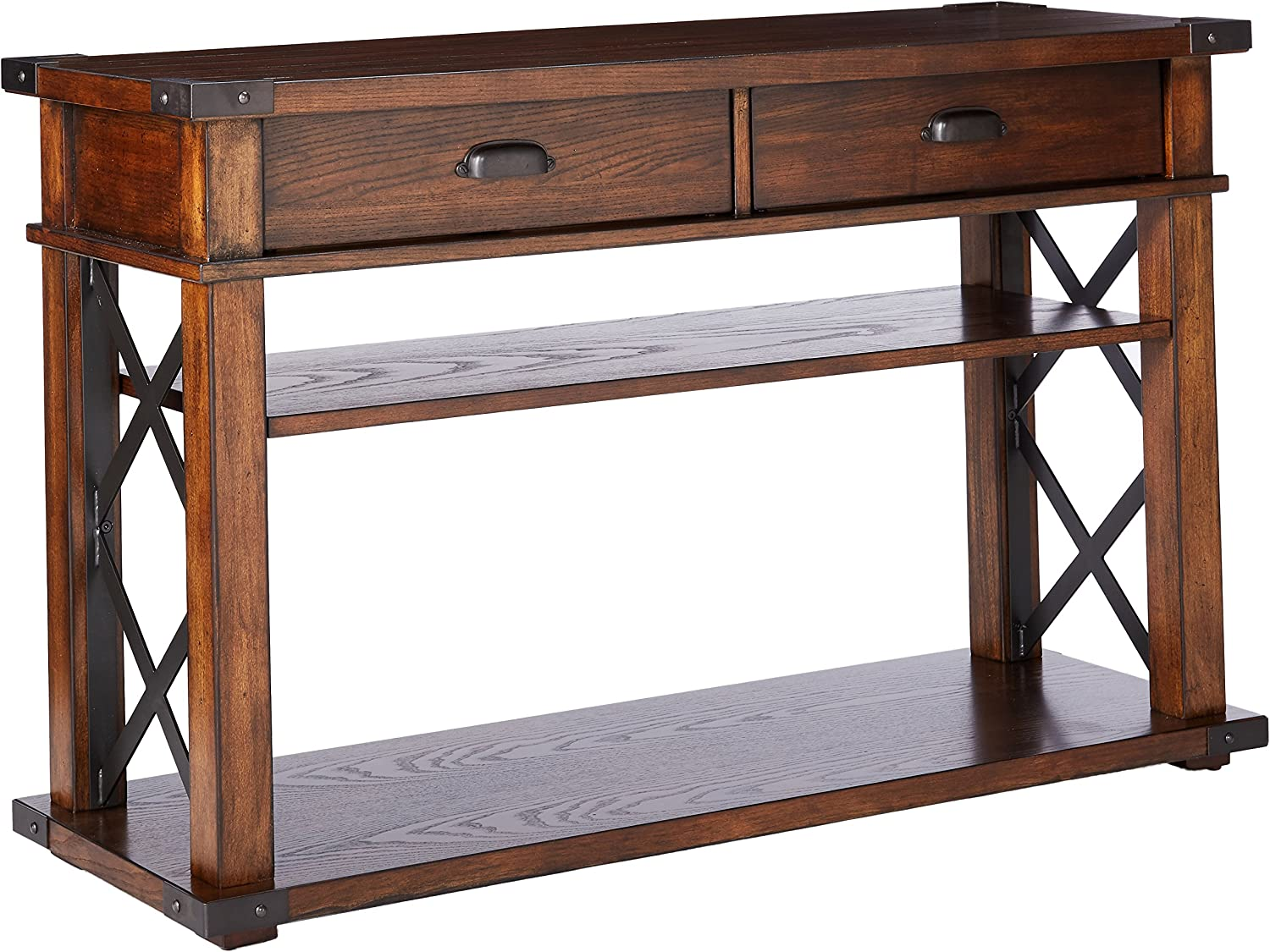Progressive Furniture Landmark Sofa Console Table, 48 x 16 x 30 , Vintage Ash