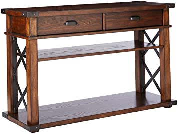 Amazon.com: Progressive muebles Landmark mesa consola, Roble ...