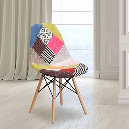 EMMA OLIVER Milan Patchwork Fabric Chair