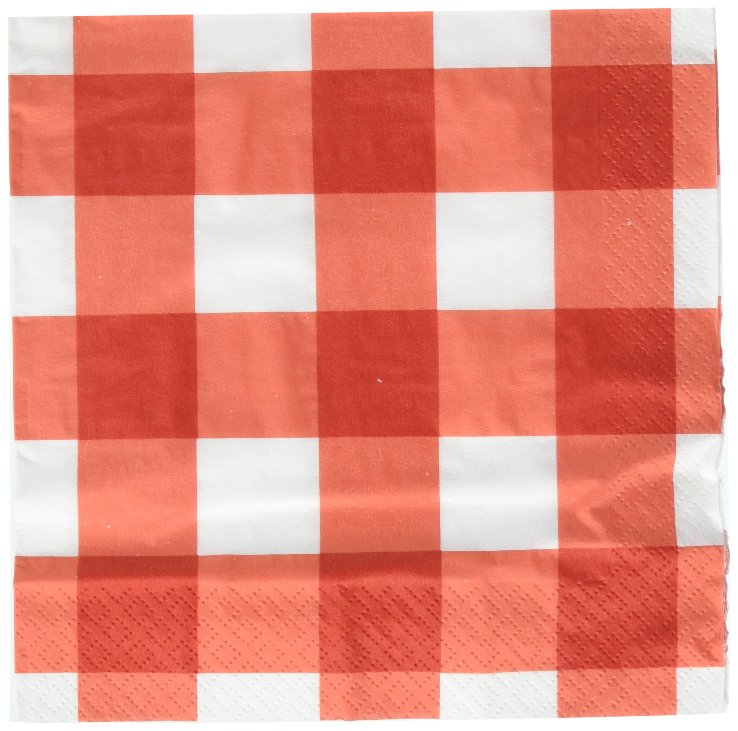 Amscan American Summer Red Gingham Party Luncheon Napkins   12 Ct.