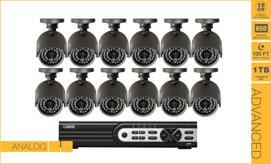 Q-See QT5716-12H4-1 16 Channel 960H DVR with 12 ...