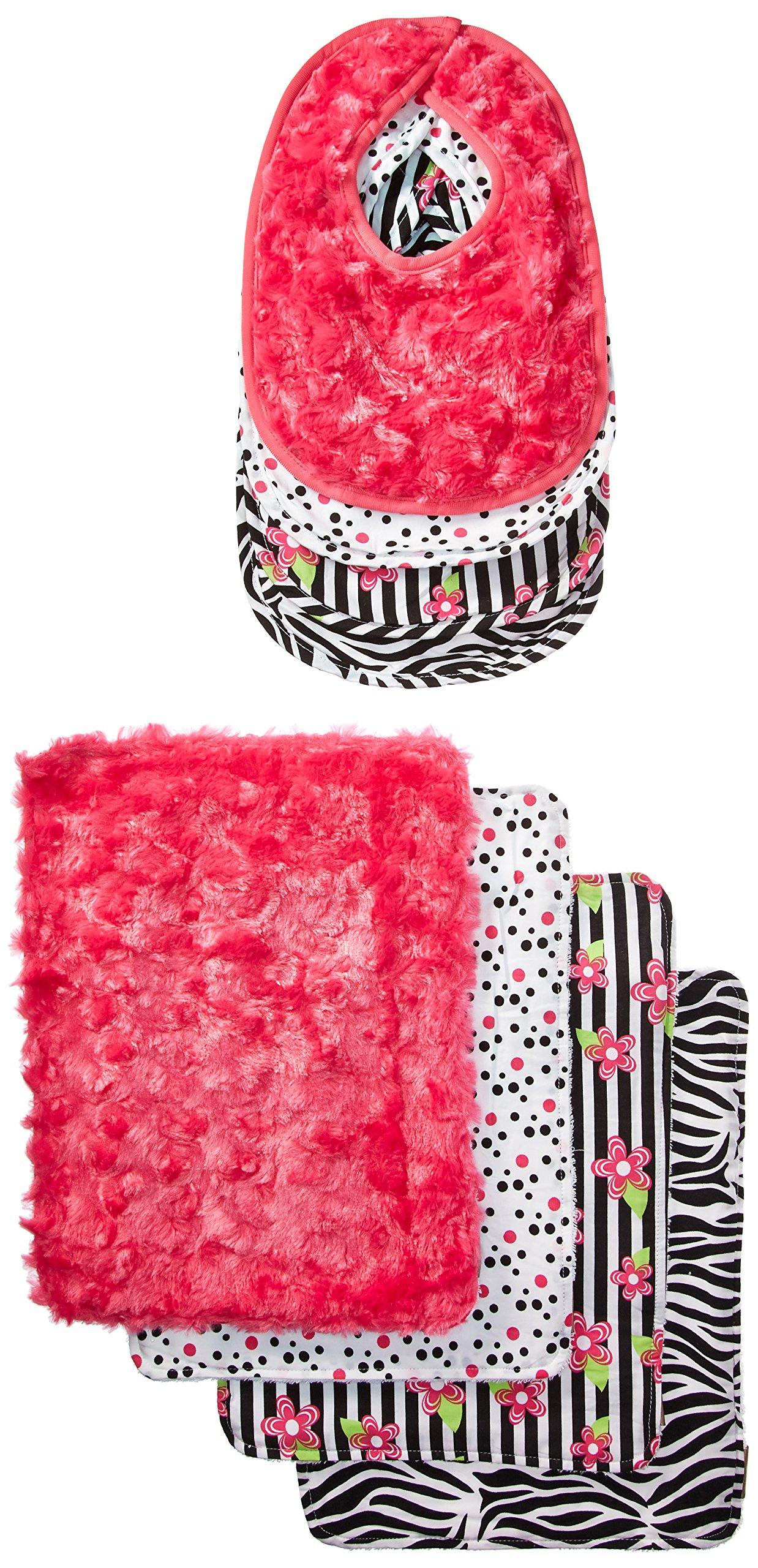Trend Lab Bouquet Zahara Bib & Burp Cloth Set