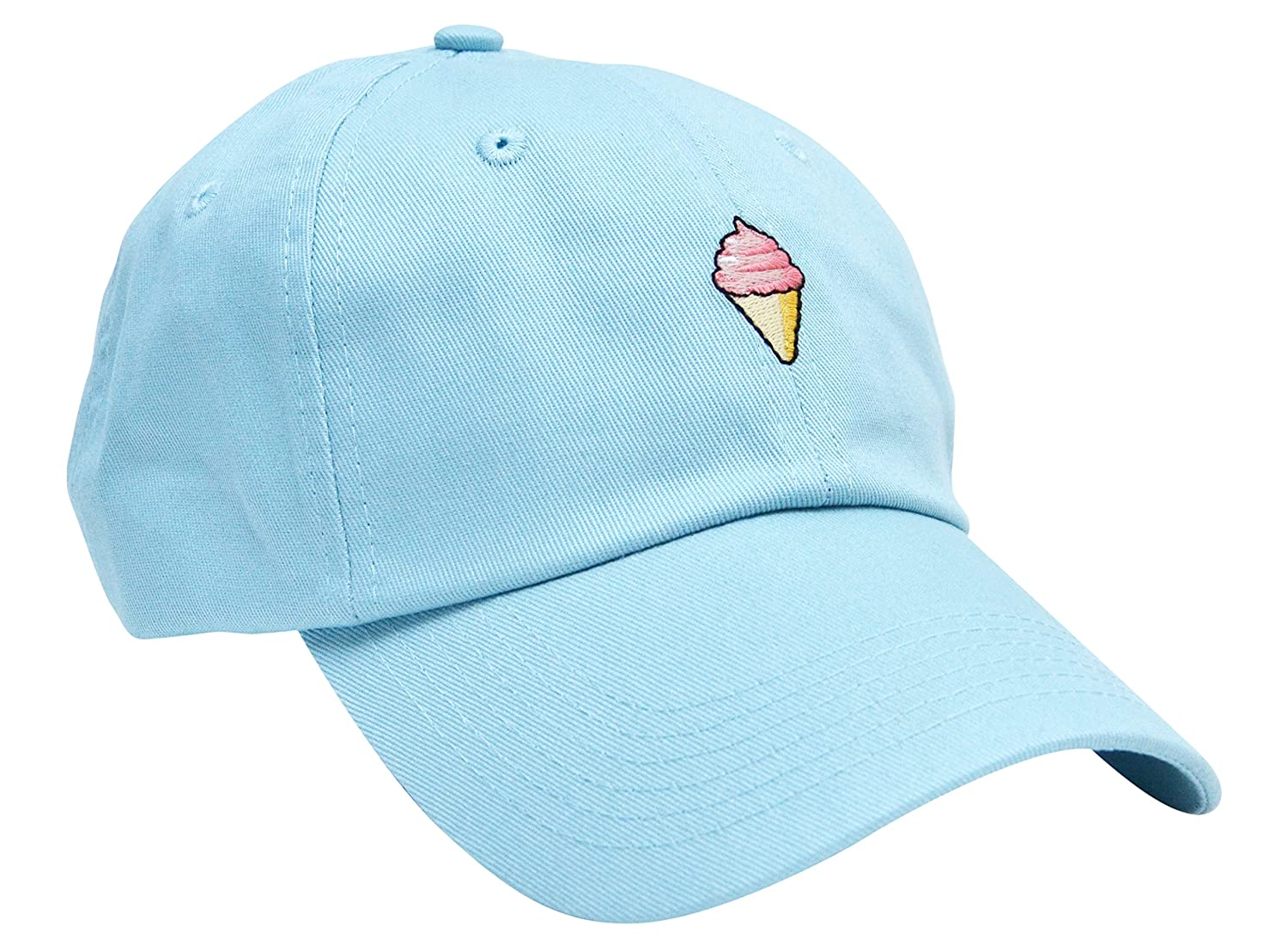 597169cce98 Skyed Apparel ICE CREAM Embroidery Adjustable Baseball Cap Baseball Hat Dad  Hat (Baby Blue) at Amazon Men s Clothing store