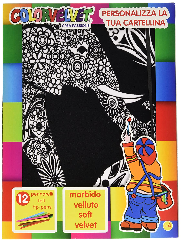 Colorvelvet - CT13 - Cartellina Elefanti Painting Velvet