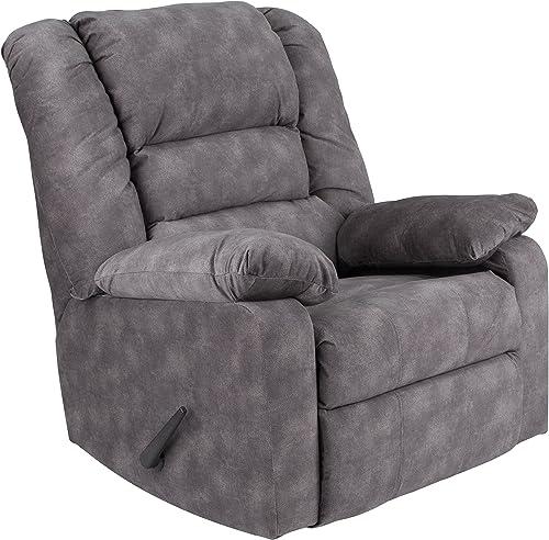 Flash Furniture Contemporary Super Soft Cody Gray Microfiber Rocker Recliner