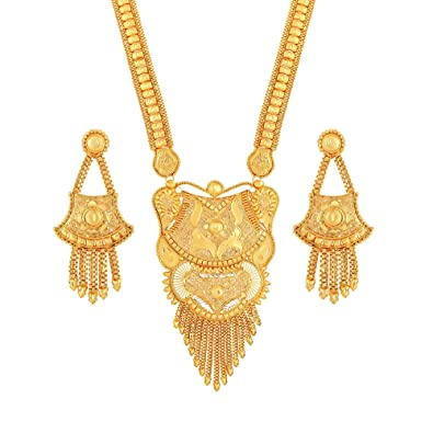 Buy Asmitta Traditional Flower Design Gold Plated Opera Style 1 GMS ...