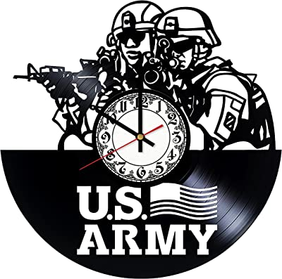 US Army Vinyl Record Wall Clock