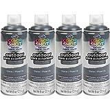 Bulk buy: Tulip ColorShot Outdoor Upholstery Spray Paint 8 oz. 4-pack, Slate