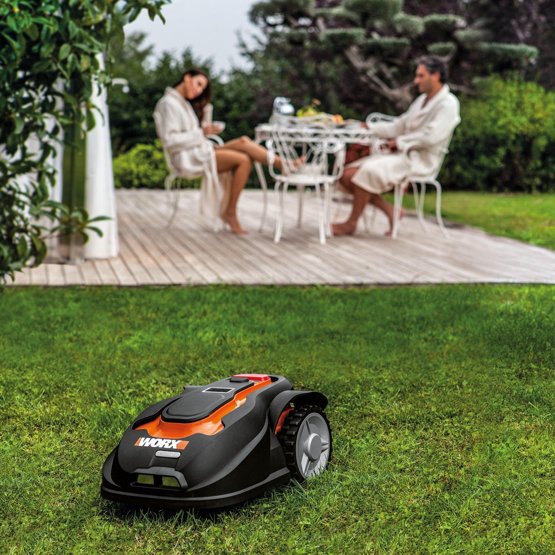 worx wg794 28 volt landroid robotic lawn mower