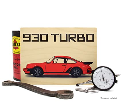 Always Garagista Porsche 930 911 Turbo Wood Print Wall Art