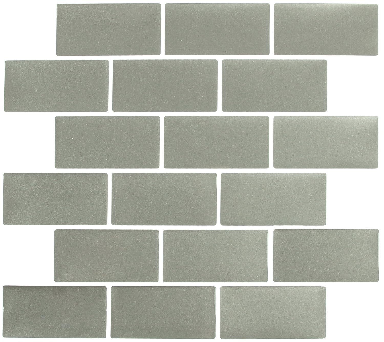 Amazoncom Peel Impress X Adhesive Vinyl Wall Tiles - Bulk subway tile