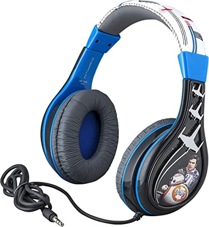 Star Wars Ep 9 Kids Headphones, Adjustable Headband, Stereo Sound, 3.5Mm Jack, Wired Headphones for Kids, Tangle-Free, Volume Control, Foldable, ...