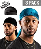 Royal Waves Velvet Premium Durag - Extra Long Straps, One Size Fits All for 360 Waves - 2 Pieces