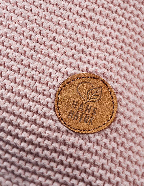 kbA GOTS zertifiziert 40 x 40 cm Bio Strick-Kissenbezug aus 100/% Bio-Baumwolle Perlrosa