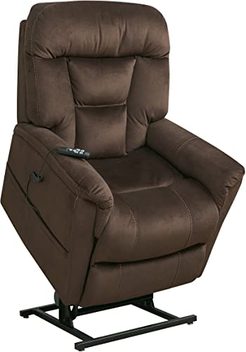 Pulaski Dark Brown Dual Motor Fabric Lift Chair