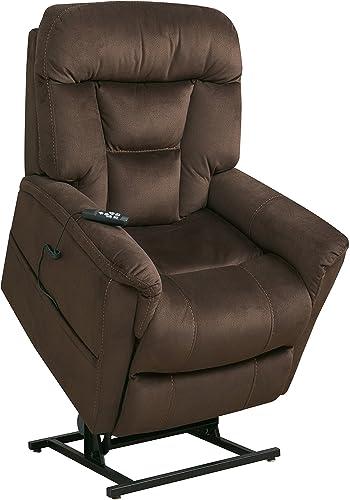 Pulaski Dark Brown Dual Motor Fabric Lift Chair