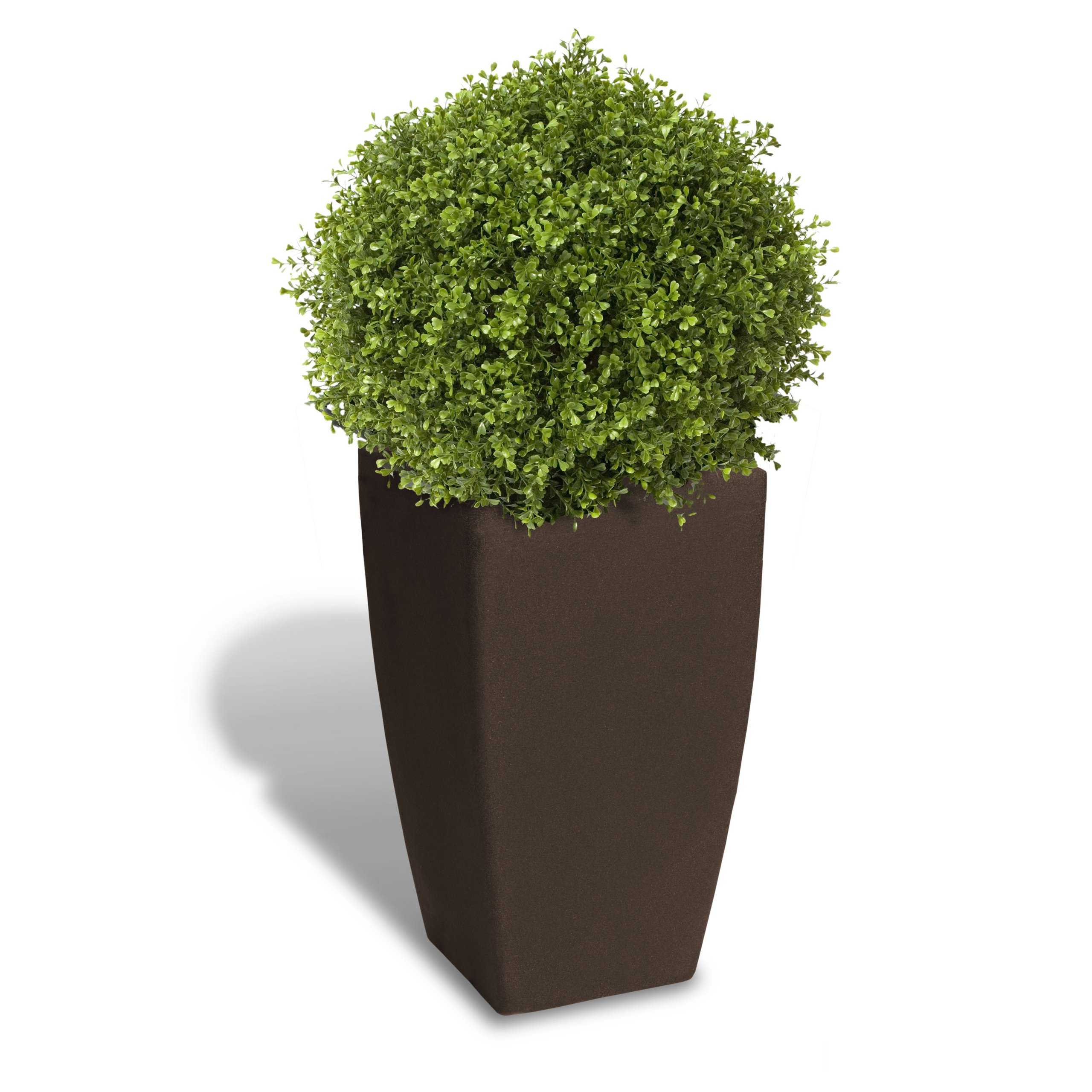 Algreen Products Madison Planter, Large, 20'' L x 20'' W x 34.5'' H, Brownstone