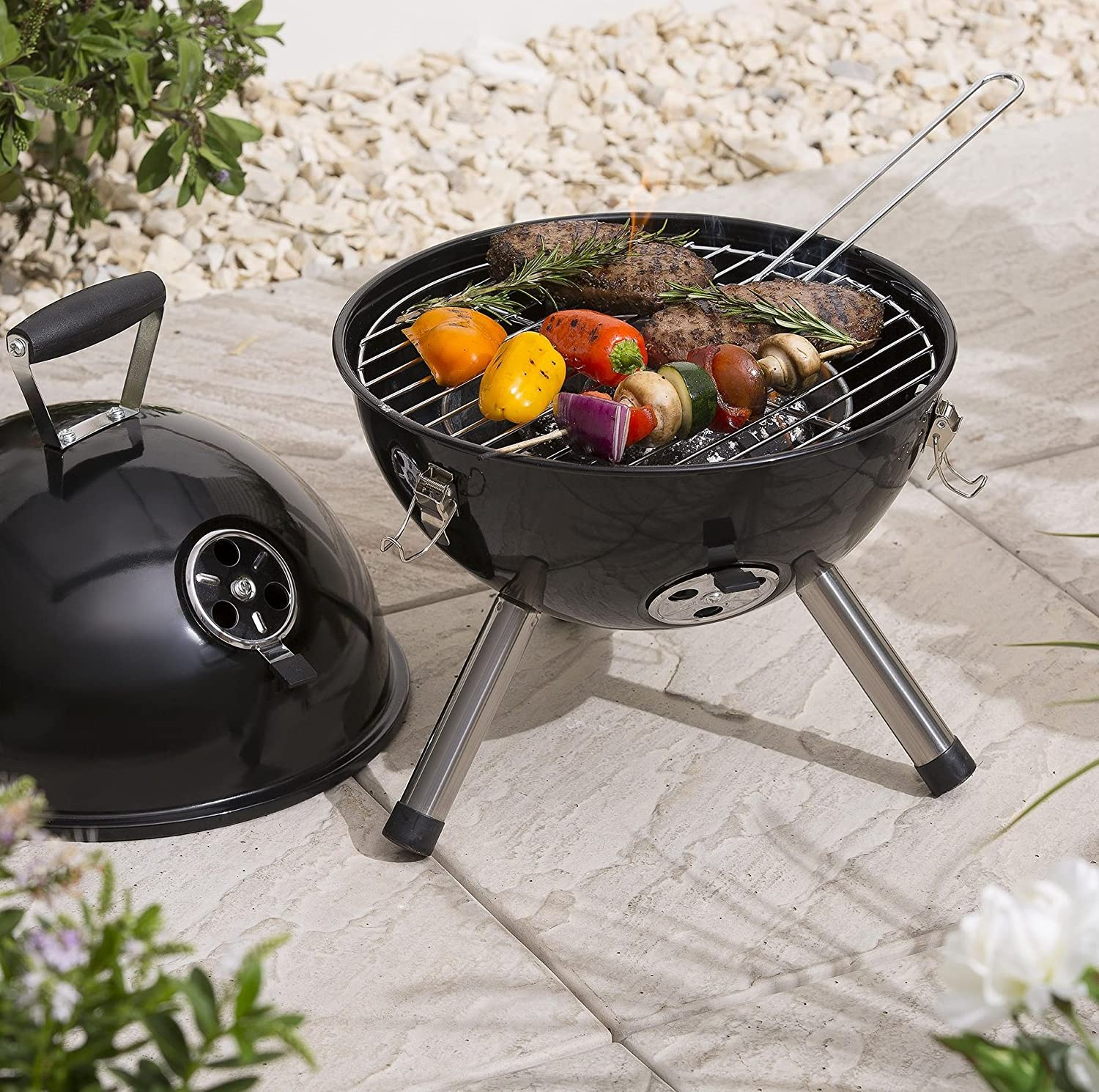 Garden & Patio Tesco Portable Charcoal Kettle BBQ Barbecues