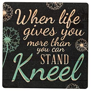 When Life Gives You More Than You Can Stand Dandelion 2.75 x 2.75 Wood Lithograph Magnet