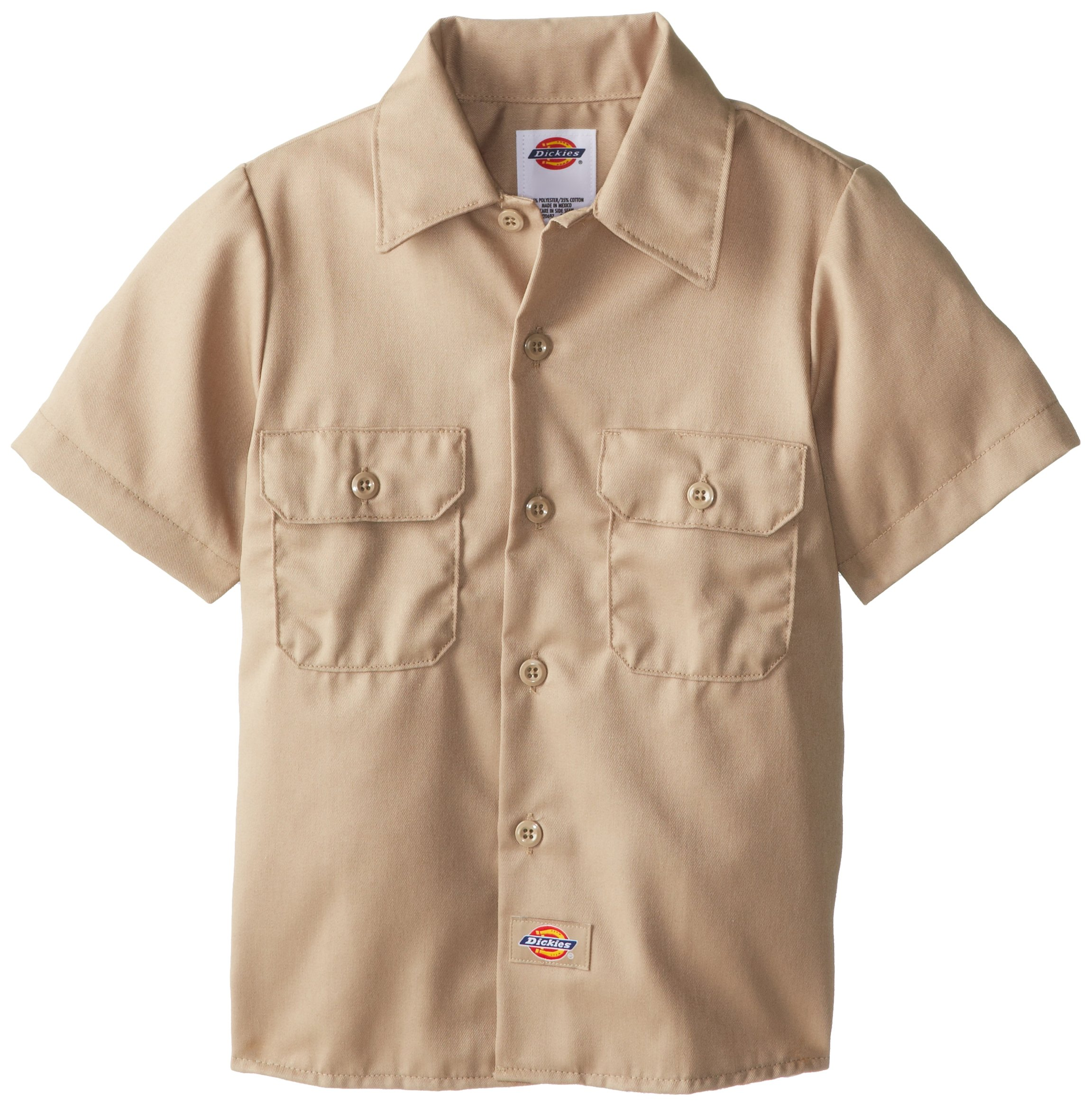 Dickies Boys' Twill Shirt, Desert Sand, Medium by dickies
