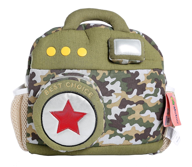 Metoo Kidバックパック,ベビーボーイズGirls幼児PreスクールバックパックChildrenバックパックバッグ 15 x 4.3 x 12.6 inches グリーン MDYUZ  グリーン B01I013D72