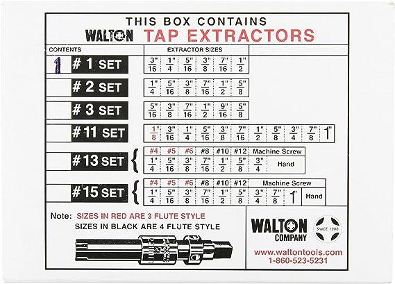 """Tap Extractors 3//16/""""-1//2/""""  Broken Tap Extractor Walton 18001 Brand New"""