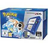 Nintendo 2DS - Konsole (Blau Transparent) inkl. Pokémon Blaue Edition