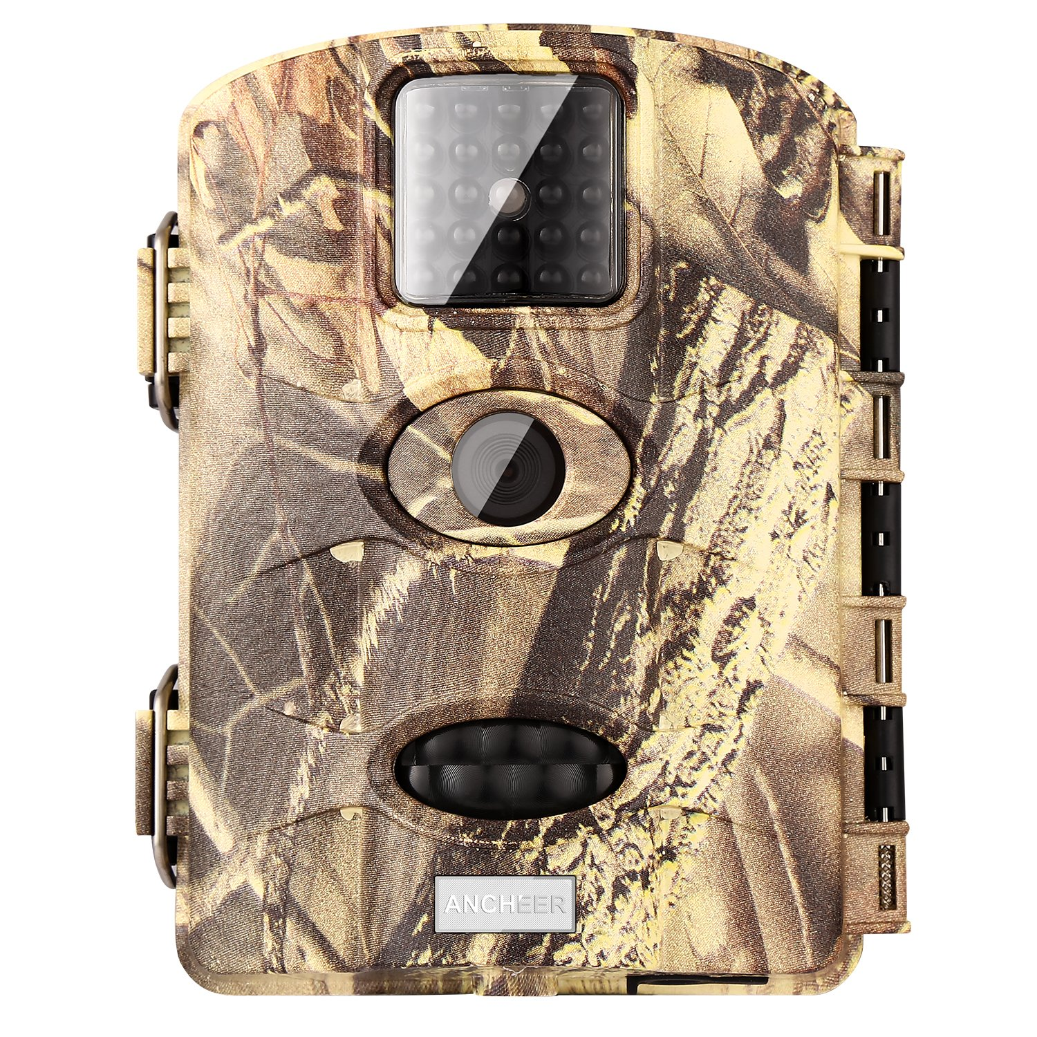 [Newest] Trail Game Camera Ancheer 16MP 1080P Wildlife Deer Camera 110° PIR Sensor Angle, 0.6s Trigeer Time, 65ft Infrared Camera Motion Activated with Night Vision, 2.4'' LCD Display, IP65 Waterproof