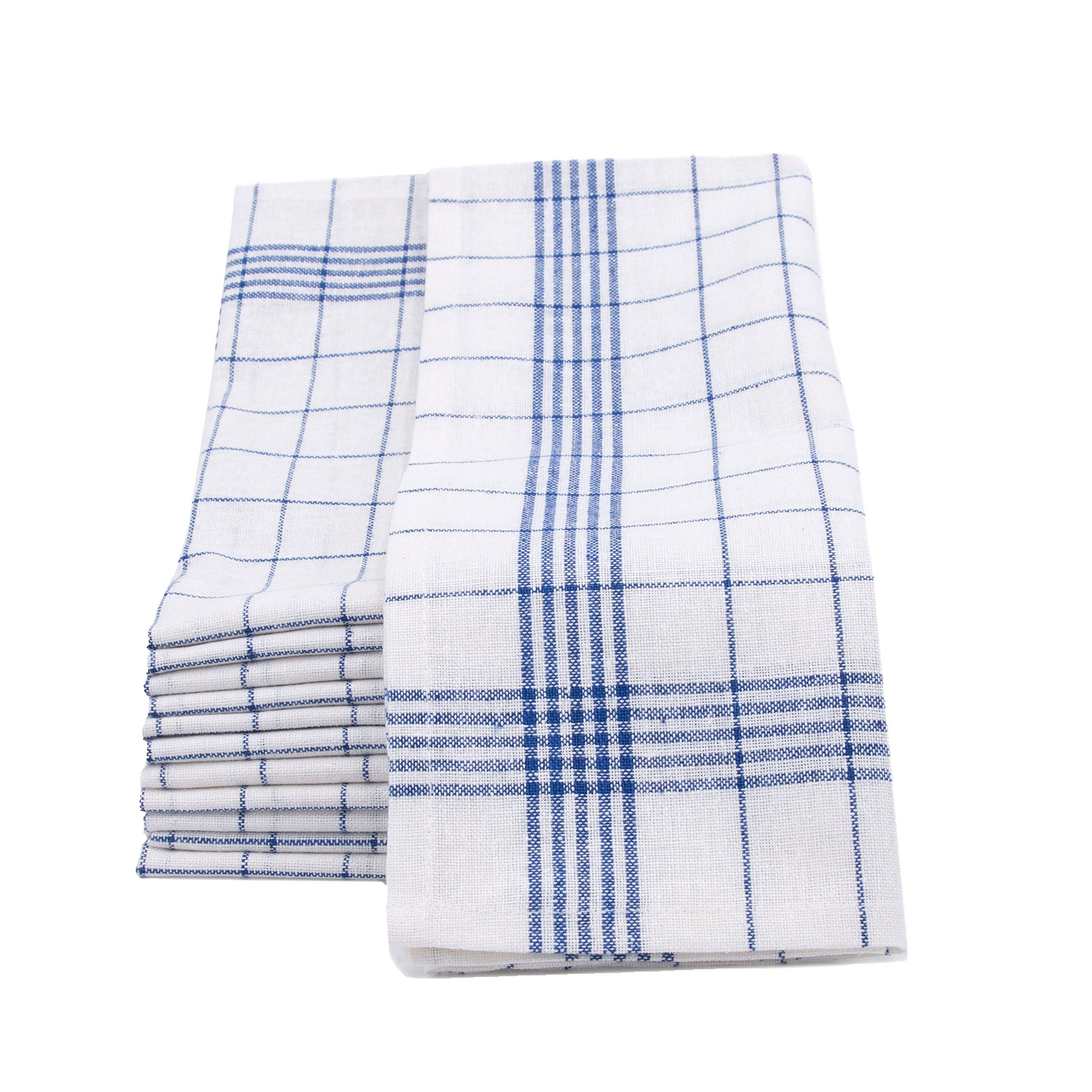 ZOLLNER 12 trapos de cocina lino y algodón, 50x70 cm, azules product image
