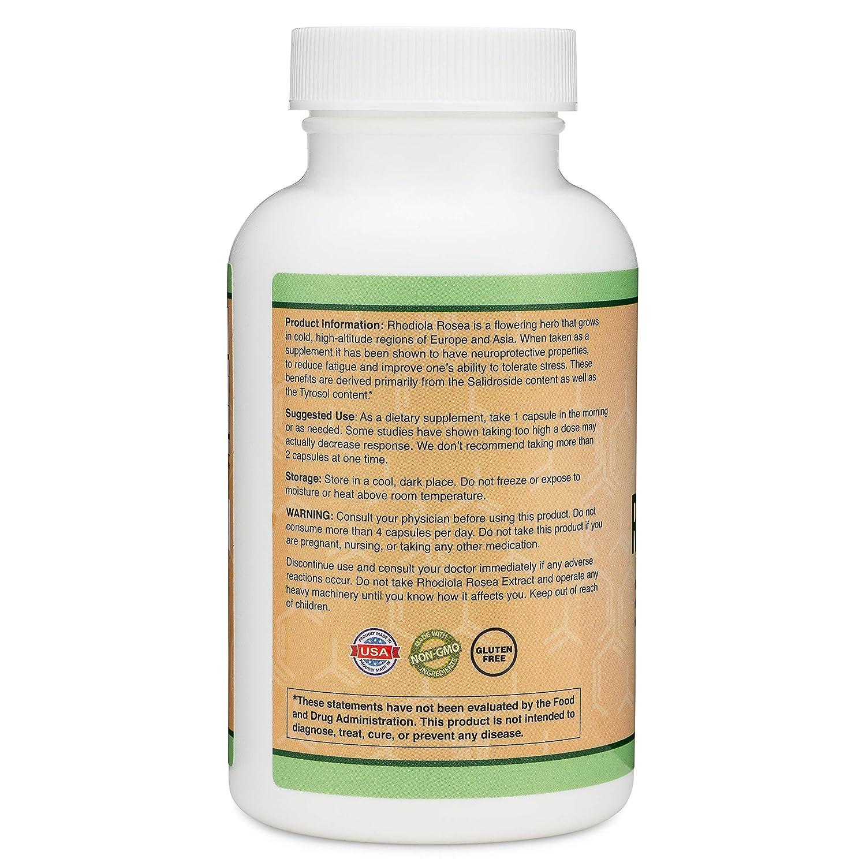Amazon.com: Rhodiola Rosea - Complemento orgánico (500 mg ...