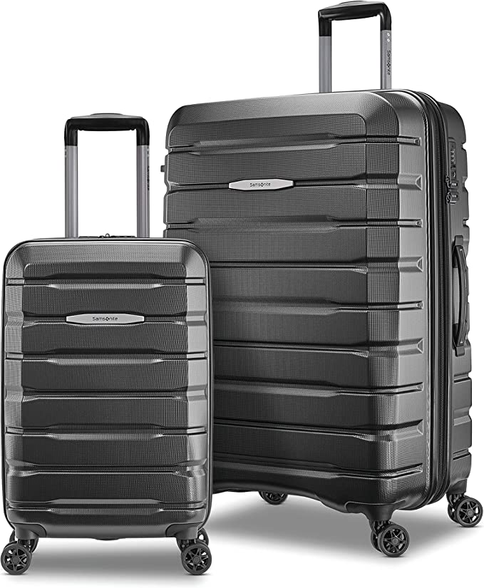 Samsonite Tech 2.0 Hardside Expandable Luggage with Spinner Wheels, 2-Piece Set (21/27), Dark Grey