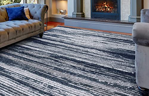 Diagona Modern Stripes 8X10 Area Rug