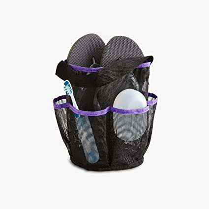 Merveilleux Roomify Mesh Shower Caddy Tote Bag, Purple