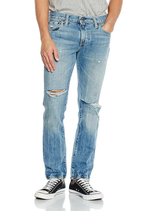 Levis 511 Slim Fit, Vaqueros para Hombre, Azul (Denim Claro), 33W / 32L