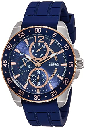 Guess Analog Blue Dial Men's Watch - W0798G2 Men at amazon