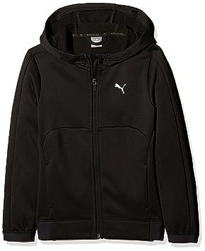 b4d21d64f5dfb PUMA 592442 01 Sweat-shirt à capuche zippée Enfant Puma Black FR   2XL (