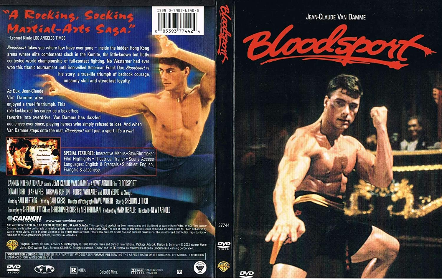 Amazon Com Bloodsport Dvd Office Products