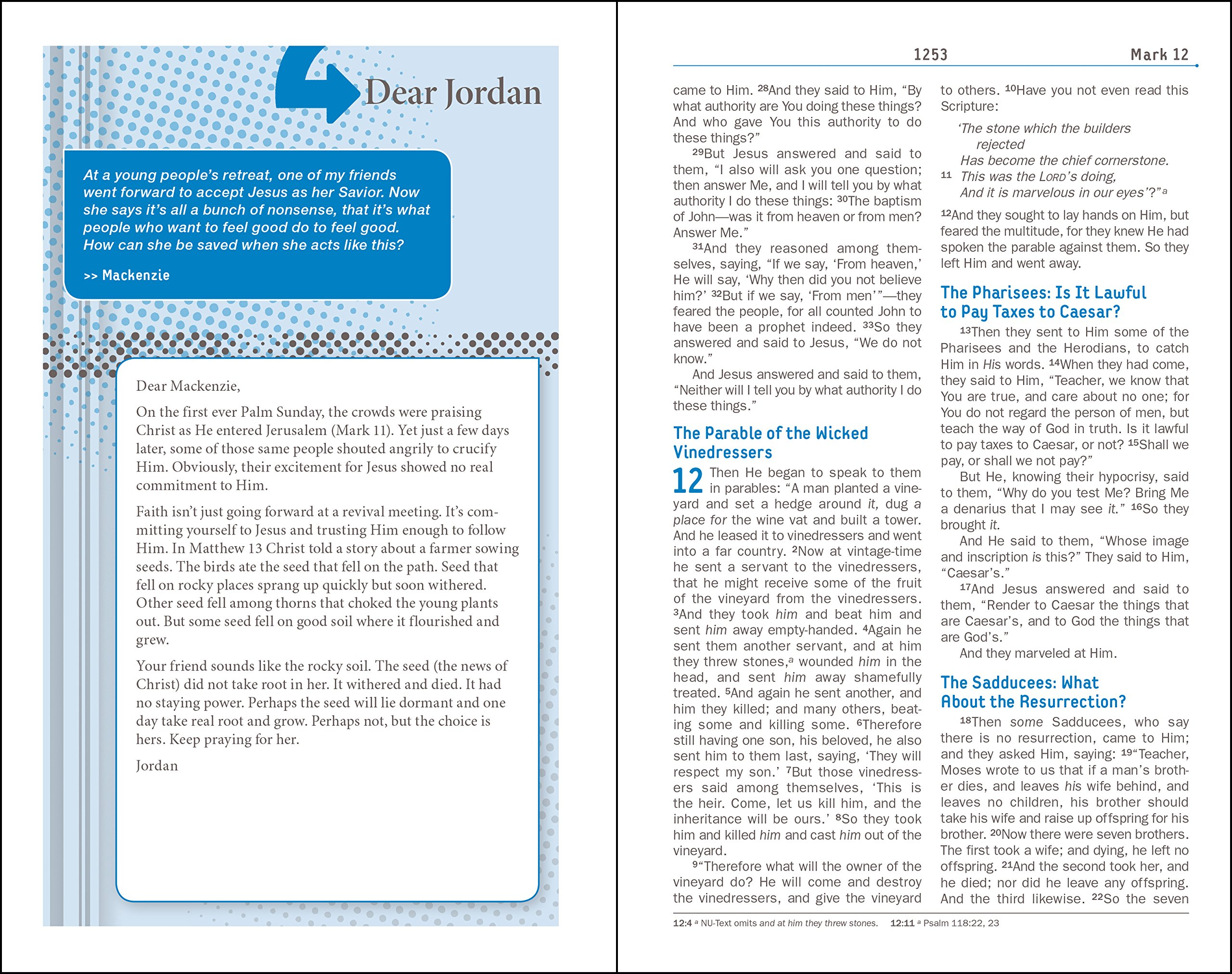 NKJV, Teen Study Bible, Hardcover by HarperCollins Christian Pub.