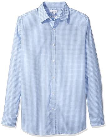 Calvin Klein Men's Big and Tall Infinite Cool Check Button Down Shirt, Blue  Capri,