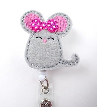 Amazon.com: Sonriente mouse – ID Badge Reel – Profesor ...