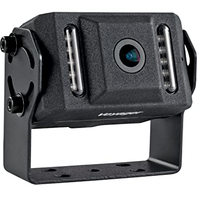 """Voyager VCMS155B Color CMOS IR LED Camera, Black, 1/4"""" CMOS Image Sensor, 420 TV Lines Resolution, 155 Degrees Viewing Angle, 0 Lux (with IR LED ON) Min Illumination, Built-in Microphone: Automotive"""