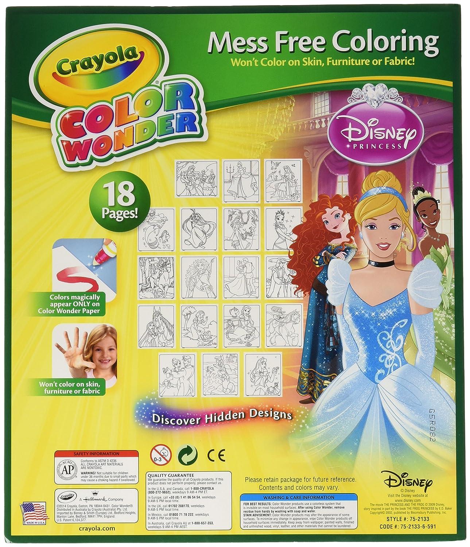 Color Wonder:Disney Princess Coloring Book and Markers Crayola