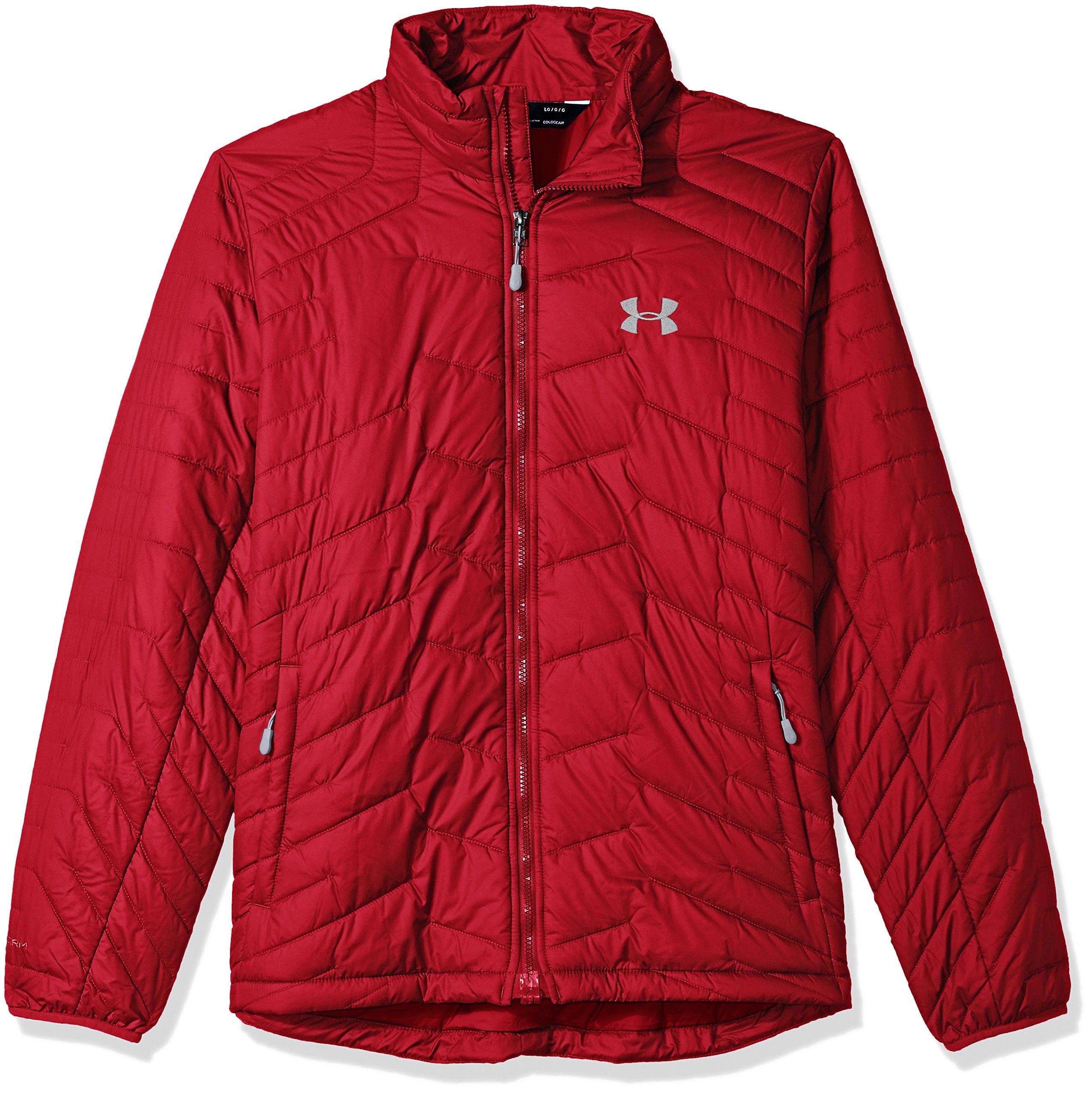 Under Armour Outerwear Men's Cold Gear Reactor Jacket, Crimson/Steel, 3X-Large