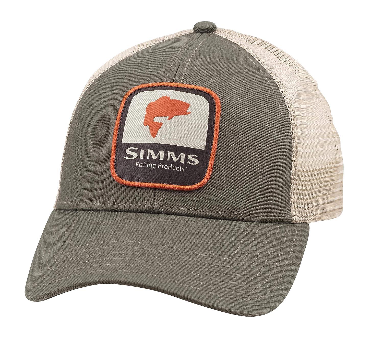Simms - Gorra de béisbol con Parche de róbalo y Parte Trasera de ...