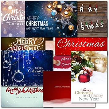 pack of 30 mixed box merry christmas premium christmas cards amazon