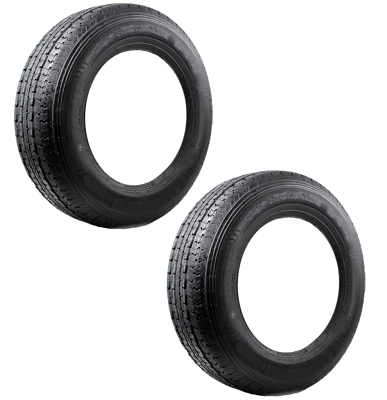 eCustomRim 2-Pack Trailer Tire ST205/75D 14 Load C 1760 Lb. Capacity Bias Ply