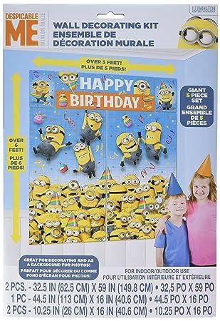 Minions 5 Piece Set Affiche Affiche De Joyeux Anniversaire De