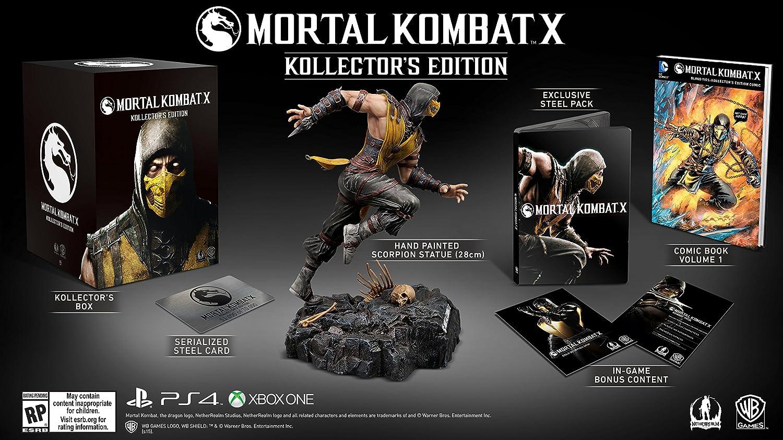 Amazon Com Mortal Kombat X Kollector S Edition Playstation 4
