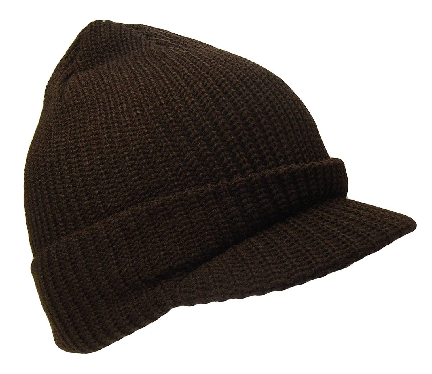 6f2ad625157 THS Knit Jeep Watch Cap Visor Beanie Ski Cap (One Size