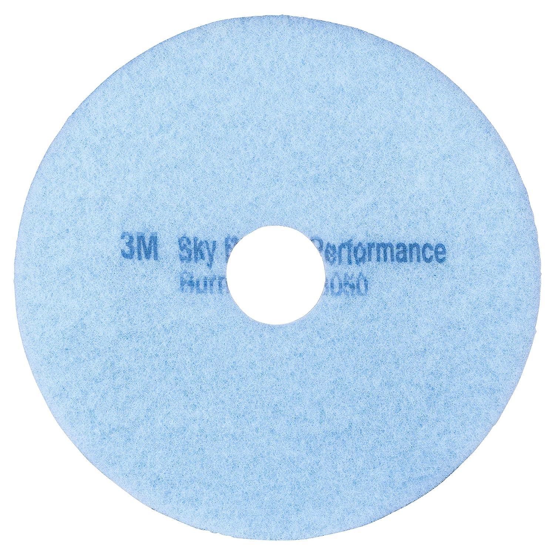 20 in 3M Floor Burnishing Pad Sky Blue Hi-Performance 3050-5 Pads per case